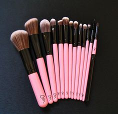 pink brushes