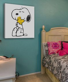 Love this Peanuts® Snoopy & Woodstock Hug Gallery-Wrapped Canvas on #zulily! #zulilyfinds