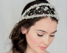 Beautiful bird cage style Veil headband…
