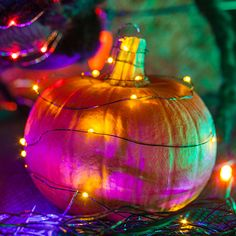 Halloween Decoration Ideas with String Lights
