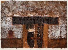 D-19.Nov.1990 mixed media painting, collage 林孝彦 HAYASHI Takahiko 1990