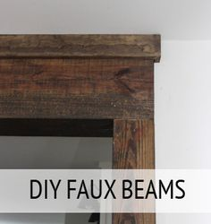 Creating Faux Wood Beams (check to see if there is a way to purchase finish lumber in the size of my beam)