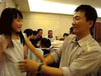 Martial arts with his little girl. Martial arts gifs