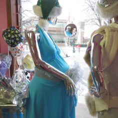 The Pretty Pushers Gown in our 2013 Holiday window display