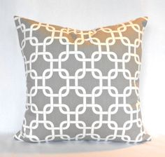Pillow Cover Grey and White Gotcha by Premier by MyPillowStudio, $15.00
