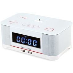 A8 Touch Radio Alarm Clock Wireless Bluetooth Speaker System with Micro USB Connector Remote Controller FM Radio AUX NFC Dual USB