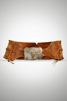 Ralph Lauren Collection Leather Corset Western Belt- I would SO wear this- all the time!!!