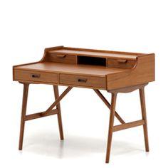 北欧デザイン家具 Klokken クロッケン チーク材 ライティングデスク 小さめデスク