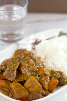 One of my favorite home-cooked meals - Curry Beef Brisket (咖哩牛腩) - packed with a truckload of spices! by @Saucy Spatula