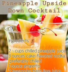 Get Your Drink On - Pineapple Upside Down Cocktail Recipe