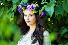 $40. eTSY. Fundelion Lilac Flower Crown