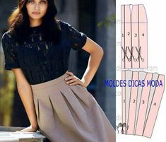 Find a great selection of skirt designs and learn how to design your own skirts for any figure, style, or size. You'll have professionally looking and stylish skirts. Dress Sewing Patterns, Clothing Patterns, Skirt Outfits, Dress Skirt, Pleated Skirt, How To Make Skirt, Techniques Couture, Fashion Designer, Sewing Clothes