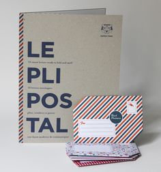 The Pli Postal Stationary - turn a sheet of stationary paper that you've written your note on, into it's own envelope. Neat!