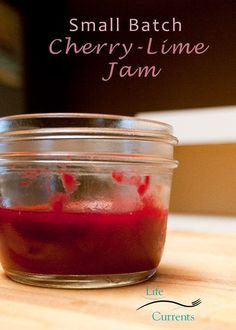Small Batch Tart Cherry-Lime Jam - my favorite jam! And, just like summer, cherries are gone way too soon!