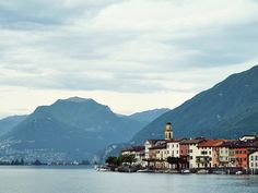 Lago di Lugano Lugano, Franklin College, Landscape Pictures, All Over The World, Switzerland, Mountains, Travel, Cow, Photography