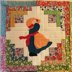 I'm currently sewing a quilt I designed using Sunbonnet Sue and Overall Sam blocks. There are 9 in the sampler and will be a pattern offered...