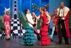 ROYAL RUMBLE: Alice (Luciana Araujo, left) gets an earful from the Red Queen (Rachel Gorwitz) in Wonderland.