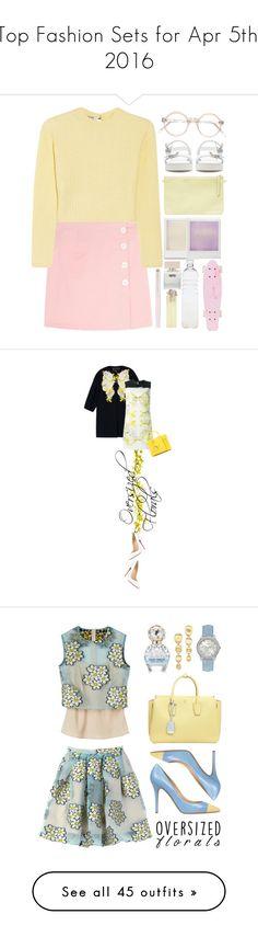 """Top Fashion Sets for Apr 5th, 2016"" by polyvore ❤ liked on Polyvore featuring Miu Miu, Zara, Holga, Seletti, Bella Freud, Waterman, Christian Louboutin, Giambattista Valli, Yves Saint Laurent and polyvoreeditorial"