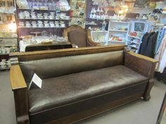 Empire Style Oak Courthouse Couch!