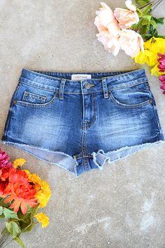 Just USA Daisy Duke Shorts - Medium Blue
