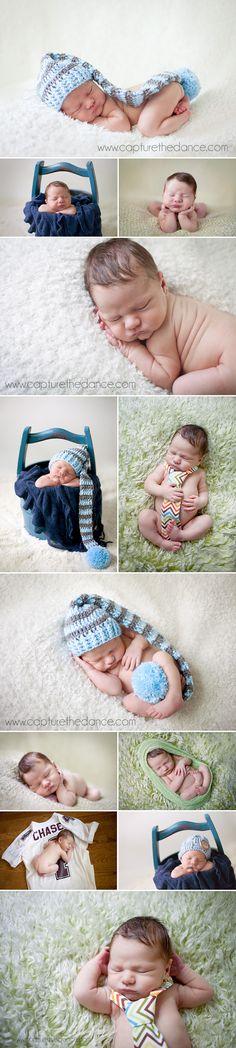 Houston Newborn Photographer -  Capture the Dance Photography  newborn baby boy pictures using props, bucket, jersey, tie, fur rug