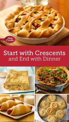 These 10 dinners give you a head start with Pillsbury crescent dinner rolls, so dinner gets on the table quick and disappears even quicker.