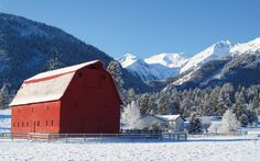 """This gorgeous mountain farm is in Wallowa Country near the town of Joseph, Oregon."" Fredrick Stephens Jr. country-magazine.com"