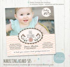 Photography Marketing Board  Fall/Autumn Mini by PaperLarkDesigns, $8.00 Find this design here https://www.etsy.com/listing/161040984