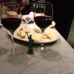 Yummy cheese platter at Eataly in NYC, LOVE it