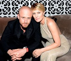 Newly engaged sweethearts Robin Wright and Ben Foster at The Weinstein Company & Netflix's after party