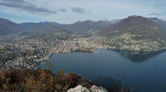 Vue générale sur la baie de Lugano