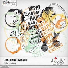 Some Bunny Loves You brushes by Anna BV Designs