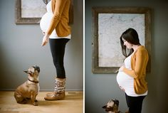 Maternity with Pets | French Bulldog | Photos by Jaq Poussot