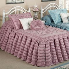 white falbala ruffle lace bedding