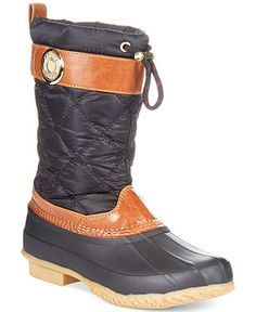 20dd274e6bf0 Tommy Hilfiger Women s Arcadia Duck Boots   Reviews - Shoes - Macy s
