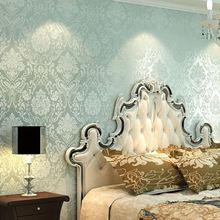 LOHOME(TM) European Style Embossed Damask Textured Bedroom Wallpaper ...
