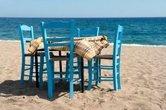 Outdoor taverna table & chairs