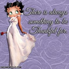 There is always something to be Thankful for. • More Betty Boop graphics & greetings ➡ http://bettybooppicturesarchive.blogspot.com/  And on Facebook https://www.facebook.com/bettybooppictures/ Betty Boop in a lovely white gown, holding a red rose #gratitude