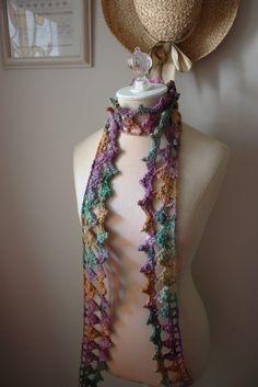 Crochet Pattern / Lace Scarf / Couronne / PDF par phydeauxdesigns, $6.00