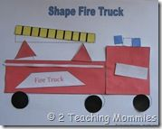 Shape firetruck with printable patterns