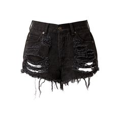 heetheadz.com high waisted black jean shorts (17 ...