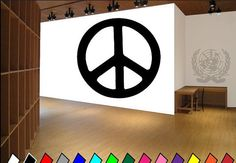 Peace Sign Symbol Hippie Peace Sign Vinyl by TheVinylStickerShop