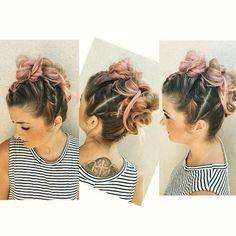 madhair_ avantgarde mohawk #hairdresser #mowhawk #braids #bun #bunz #twists #pink #fashion #avantgarde #mohawk #hairdresser #summer #haircut #curly #straight #oc #irvine #costamesa #girly #fashion #braids #hairstyle #ponytail