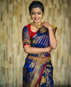 Your Official Guide to Find Best Half Saree Blouse Designs Wedding Saree Blouse Designs, Pattu Saree Blouse Designs, Half Saree Designs, Saree Wedding, Bridal Silk Saree, Sari Blouse, Wedding Wear, Bridal Sarees South Indian, South Indian Weddings