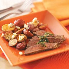 Garlic-Butter Steak Recipe - looks good!