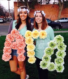 AGD floral letters
