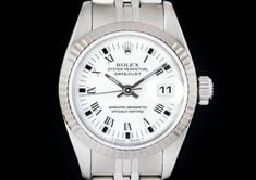 Rolex Datejust Ladies Stainless Steel White Roman Dial B&P 69174 Rolex Datejust, Stainless Steel, Roman, Silver, Watches, Money, Clocks, Clock