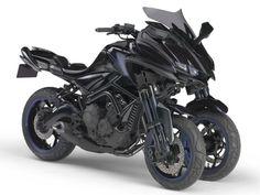 Tóquio: conheça a incrível Yamaha MT-09 de três rodas