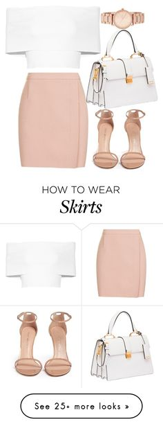 """Untitled #1514"" by mihai-theodora on Polyvore featuring Topshop, Stuart Weitzman, Rosetta Getty, Miu Miu and DKNY"