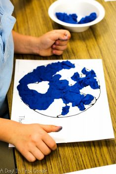My students loved this hands-on lesson to better understand the globe! All you need is blue play dough and these work mats!